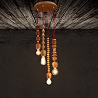 KHSKX Decorativo Rovere lampadario circolare