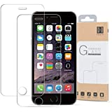 HIPPOX iPhone 6 Screen Protector, iPhone 6S Screen Protector [2 Pack] [Full Screen Tempered Glass] 0.2mm Ballistic Glass Work with iPhone 6/ 6S and Protective Case [Lifetime Warranty]