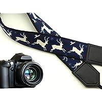 intepro Bianco Cervo Cinghia per Fotocamera. Nero cinghia per fotocamera DSLR/SLR. accessori per la fotocamera. (Mens Nero Cervo)
