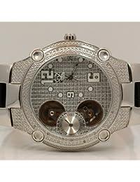 AQUA MASTER W2122 - Reloj para hombres, correa de cuero color negro