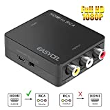 EASYCEL 1080P Mini HDMI zu AV Composite RCA-CVBS-Konverter-Adapter für Amazon Fire TV-Stick Roku Sky DVD PS3 PS4 Nintendo Switch Chromecast, unterstützt PAL/NTSC-TV-Format-Ausgangsschalter