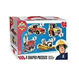 Picture Of Jumbo Games Fireman Sam 4-in-1 Shaped Jigsaw Puzzles