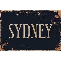 Zhaoshoping Placa de Metal para Pared (20 x 30 cm), Diseño Vintage de Sydney