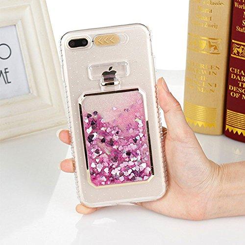 UMCCC Mobile Shell Mode Luxus Bling Star Dynamischer Flüssiger Schleifpapier-Telefon-Kasten iPhone X LED-Blitz-Mädchen-Telefon-Kasten,Pink (Telefon-kasten Iphone 6 Nike)