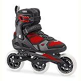 Rollerblade Herren macrob 1103WD Fitness Inline Skate, schwarz/rot, Größe 12,5