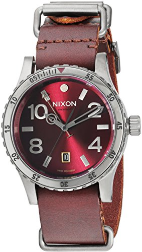 NIXON Men's Analogue Swiss-Quartz Watch with Leather Strap A2692073