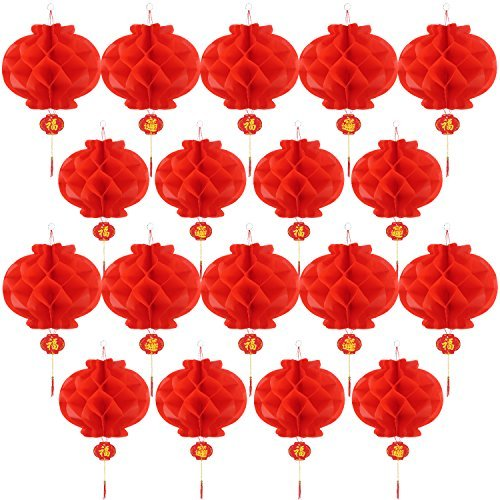 4cm Chinese New Year Rot Papier Lampion Laternen hängen Dekorationen ()