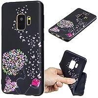 Everainy Samsung Galaxy S9 Hülle Silikon Gummi Prägen Muster Cover Hüllen für Samsung Galaxy S9 Handyhülle Stoßfest... preisvergleich bei billige-tabletten.eu