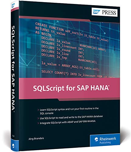 SQLScript for SAP HANA
