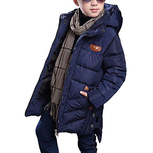 Homieco bambini giubbotto piumino invernale ragazzi leggero lungo inverno giu cappotto giù il collo di pelliccia giacca maschile piumino con cappuccio