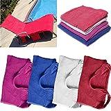 mark8shop Mikrofaser Lounge Stuhl Beach Handtuch mit Taschen Urlaub Sonnenbad