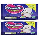 MamyPoko Wipes With Green Tea Essence - Pack Of 100 Wipes With Fragrance (3 Pocket / 300Pcs)