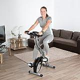 Ultrasport Racer F-Bike, Fahrradtrainer, Heimtrainer, faltbares Fitnessfahrrad mit Trainingscomputer und Handpulssensoren - 7
