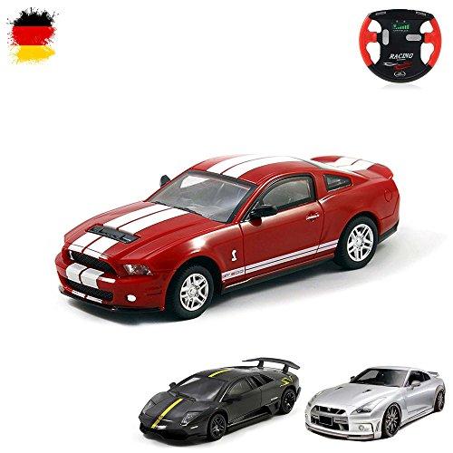 HSP Himoto Ford Mustang, Lamborghini Murcielago SV, Nissan GT-R - RC Mini 1/43 Lizenzauto, Ferngesteuertes Fahrzeug, Auto, Car, Modellbau, Akku integriert, Fernsteuerung mit Ladefunktion, OVP