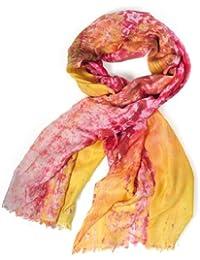 Damen Schal SOLERO rot/gelb - Kashmir-Mischgewebe (CMO-001-04)<br />