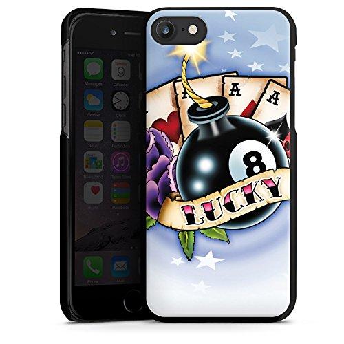 Apple iPhone X Silikon Hülle Case Schutzhülle Karten Glück Würfel Hard Case schwarz