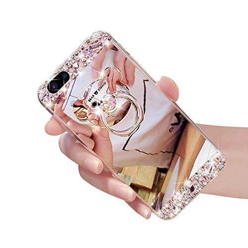 Cover per iPhone 8 Plus/ iPhone 7 Plus, Custodia per iPhone 8 Plus,Bonice Diamante Bling Glitter Lusso Cristallo Strass Morbida Rubber Full body Shock-Absorption Bumper e Anti-Scratch Case Cover Per i Argento