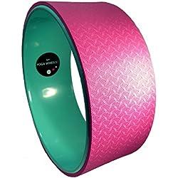 MyYogaWheels - Rueda para yoga y pilates, color rosa y verde