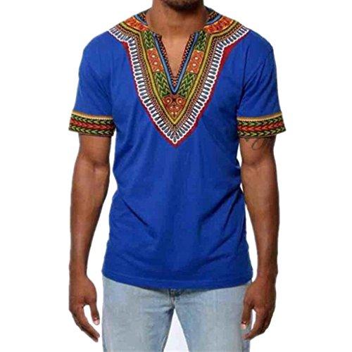 7730f7983cf Yvelands Makerda Printed Printed T-Shirt Personalidad de los Hombres  Personalidad Moda V-Cuello