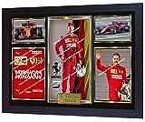 SGH SERVICES NEU! Bilderrahmen Sebastian Vettel Ferrari Formel 1, gerahmt, signiert, MDF-Rahmen