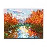 STJK$BMJW Hand Gemalte Öl Home Dekoration Messer Gemälde Landschaft Bilder 70 X 80 Cm (Nur Leinwand)