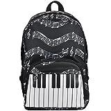 Punk Oxford Motif notes de musique Sac à dos pour l\'école garçons filles élégant Art Bookbags (4Couleur) Keyboard black