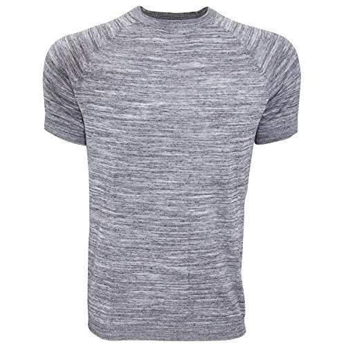 Bench Herren Cogs Fine Stripe Freizeit T-Shirt Grau