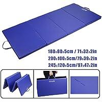 CCLIFE Tapis de Gymnastique Pliable Tapis de Yoga Pliant Tapis Musculation Matelas Gymnastique Pliant Portable