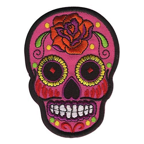 Freak Scene parche - Calavera Mexico Rosa - rosa-naranja