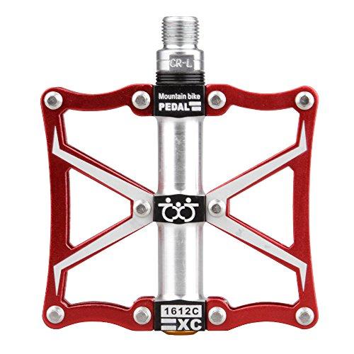 TXJ Pedales de Aluminio de la Bicicleta con el Cojinete de Acero del Cromo-Molibdeno para la Bicicleta de la Ciudad / la Bici del Camino / la Bici de Montaña (MTB) / el BMX