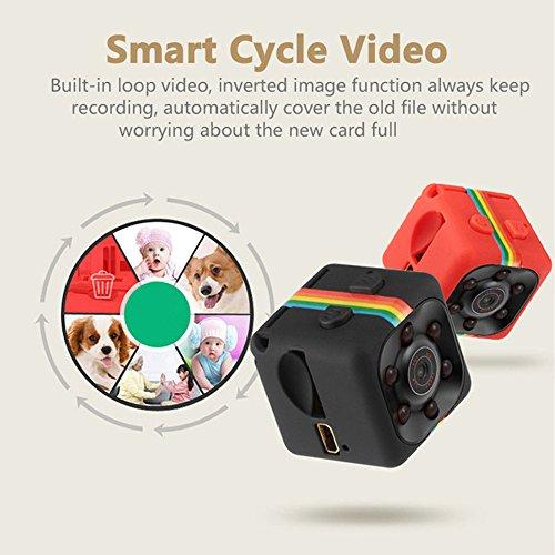 Springdoit-1080P-HD-Mini-Camera-DVR-Camera-leggero-con-funzione-di-visione-notturna-Monitoraggio-Office-Security-Nero