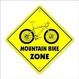 Mountain Bike Crossing Sign Zone Xing |-| 43,2cm Hoch Jump Trail Reifen Bremsen Gear Öl