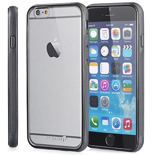 """Fosmon HYBO-LATCH Hybride Pare-chocs Case Cover avec Encastré Protecteur d'écran pour Apple iPhone 6/6s (4.7"""") - Blanc Noir"""