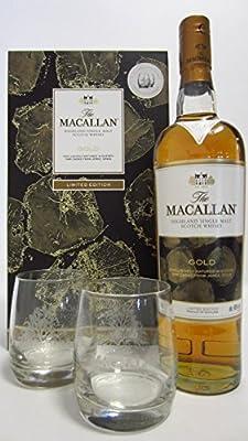 Macallan - Gold & 2 x Glasses Gift Set - Whisky