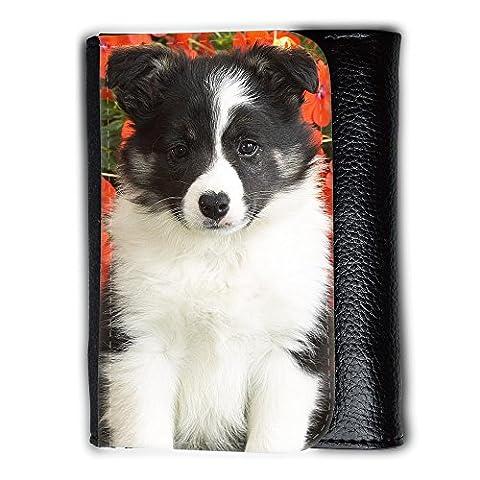Medium Faux Leather Wallet with card slot // V00003810 shetland sheepdog puppy // Medium Size Wallet