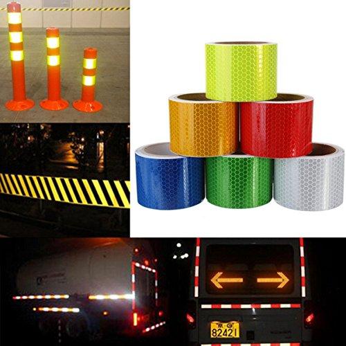 Zedtom - Cinta adhesiva reflectante, 3m x 5cm, para coche, camión moto,...