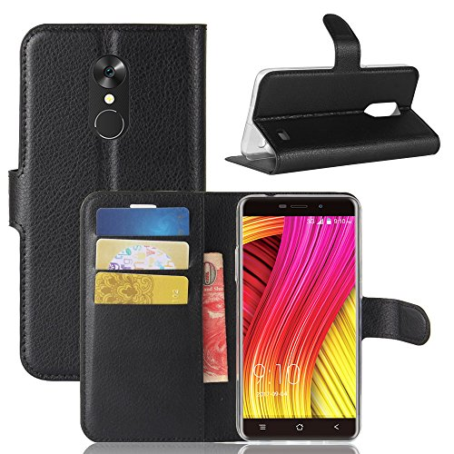 Forhouse Blackview A10 Wallet Case, Stylish Slim PU Leather Protector Stand and Card Holders Wallet Phone Cover Closure Protective Case for Blackview A10 -Black (Light Switch Custom)
