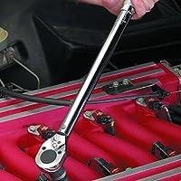 Llave de apriete ajustable prefabricada de 5-25 pulgadas con llave de clic de 1/4 pulg.