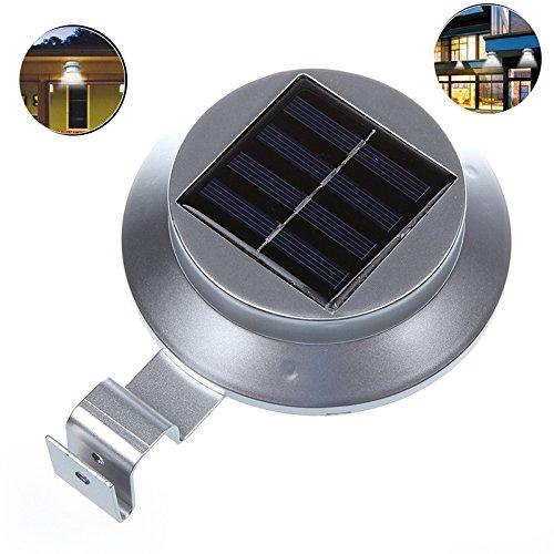 Preisvergleich Produktbild Minidiva Solar Zaun Licht mit 3 LEDs - Garten Solarleuchte für Haus,  Zaun,  Garten,  Garage und Gehweg Beleuchtung 1.2V / 1200mAh AA Ni-MH(Weiß)