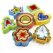 Omkuwl Colorido Multi-forma de Molde Plástico Galleta Cortador de Bizcocher Moldes Pastry Maker Tools