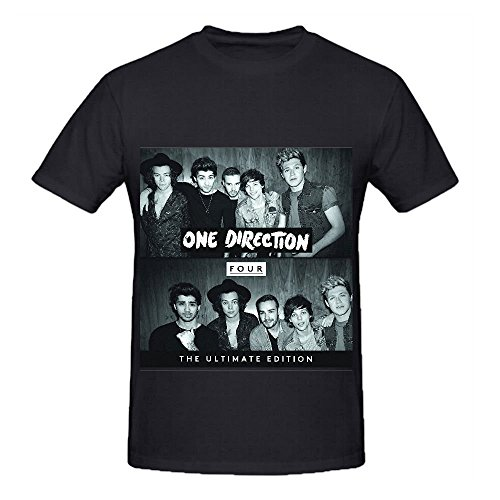 One Direction Four Rock Album Herrens O Neck Printed Shirts Large (Album Four One Direction)