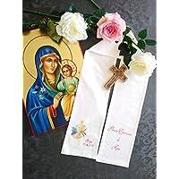 Echarpe de Première Communion personnalisable, peinte à la main pour bébé, enfant, adulte