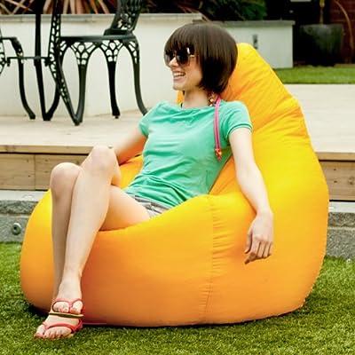 Designer Recliner Gaming Bean Bag YELLOW - Indoor & Outdoor Beanbag Chair (Water Resistant) by Bean Bag Bazaar®