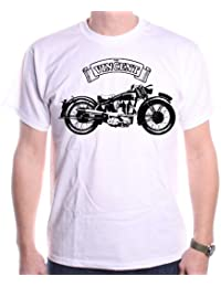 Vincent Motorcycle T Shirt by Old Skool Hooligans