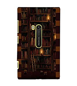 PrintDhaba Library D-4943 Back Case Cover for NOKIA LUMIA 920 (Multi-Coloured)