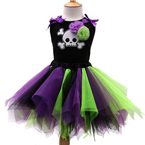 Sronjn Mädchen Ärmellos Kinder Kleid Halloween Karneval Kostüm festlich Partykleid Cosplay Kostüme Kleidung Festzug Stil 3 M
