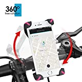 Fahrrad Handyhalterung, Wrcibo Universal Handy Halterung Outdoor Fahrradhalterung Fahrrad Lenker 360° Drehbare Handyhalterung Handy GPS Halter-Rosa - 4