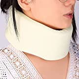 #10: Safety Soft Firm Foam Cotton Cervical Collar Neck Jaw Spine Head Brace Support Shoulder Pain Relief Adjustable Health Care White