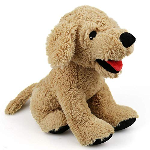 LotFancy Peluche Perro Golden Retriever 30,5cm, Peluches Bebe Suave y Seguro, Sentirse Cómodo Juguete Mejor Regalo para Niños, Parejas, Mascotas - Beige