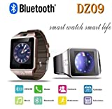 DZ09-Bluetooth-Brown-&-Gold-Smart-Watch-Single-SIM-Phone-with-Dialer-Camera-Sleep-Monitor-New